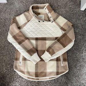 Abercombie Asymmetrical Snap Fleece